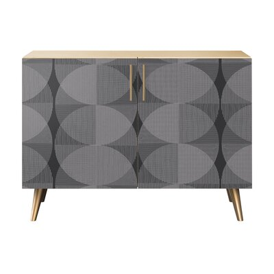 Crotts 2 Door Accent Cabinet Color: Brass/Natural