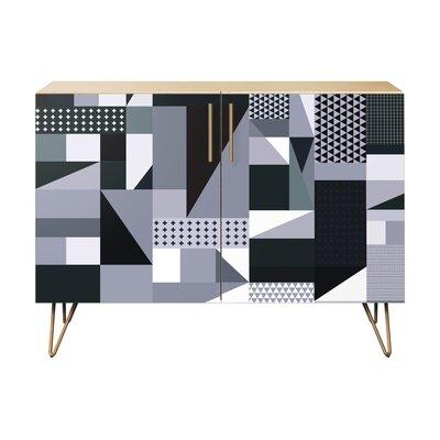 Maurer 2 Door Cabinet Color: Brass/Natural
