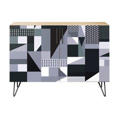 Maurer 2 Door Cabinet Color: Black/Natural