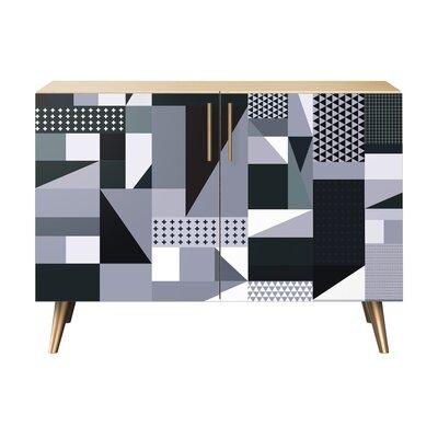 Maynard 2 Door Cabinet Color: Brass/Natural
