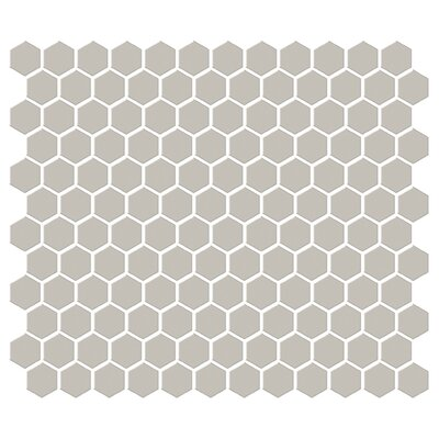 "Shape 1"" x 1"" Porcelain Mosaic Tile in Brown"