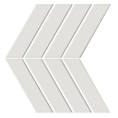 "Shape 4.5"" x 6.5"" Porcelain Mosaic Tile in Beige"