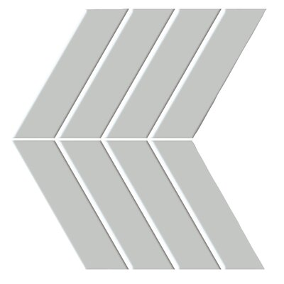 "Shape 4.5"" x 6.5"" Porcelain Mosaic Tile in Gray"