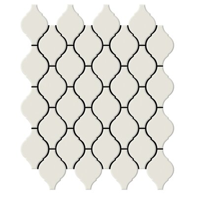"Shape 2"" x 2"" Porcelain Mosaic Tile in Bone"
