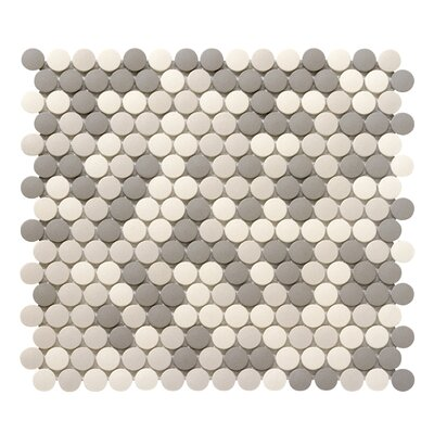 "Zone 0.8"" x 0.8"" Porcelain Mosaic Tile in Light Blend"