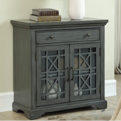 Fridley 1 Drawer Accent Cabinet Color: Gray