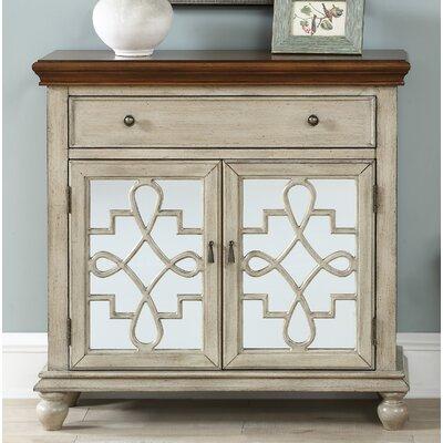 Guerin 2 Door 1 Drawer Accent Cabinet Color: Beige