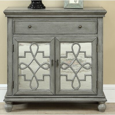 Guerin 2 Door 1 Drawer Accent Cabinet Color: Gray