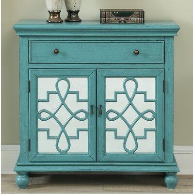 Guerin 2 Door 1 Drawer Accent Cabinet Color: Teal