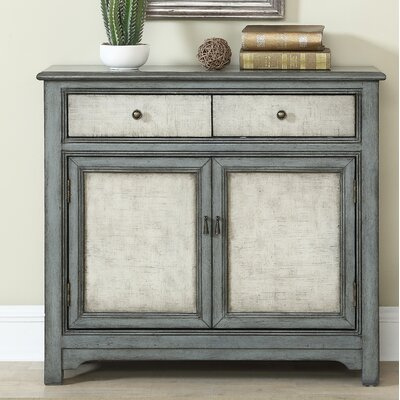 Fullilove 2 Door 2 Drawer Accent Cabinet Color: Blue