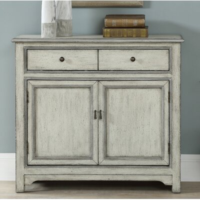 Fullilove 2 Door 2 Drawer Accent Cabinet Color: Cream/Silver
