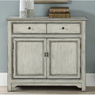 Fullilove 2 Door 2 Drawer Accent Cabinet Color: Cream/Silver