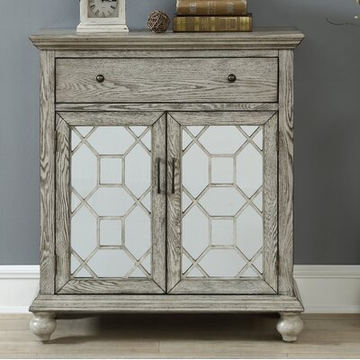 Guernsey 2 Door 1 Drawer Accent Cabinet Color: Coast Rub