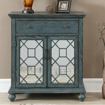 Guernsey 2 Door 1 Drawer Accent Cabinet Color: Joliet Blue
