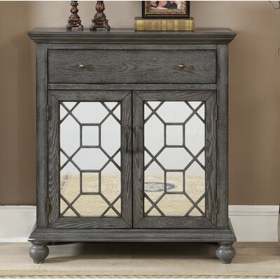 Guernsey 2 Door 1 Drawer Accent Cabinet Color: Springs Gray