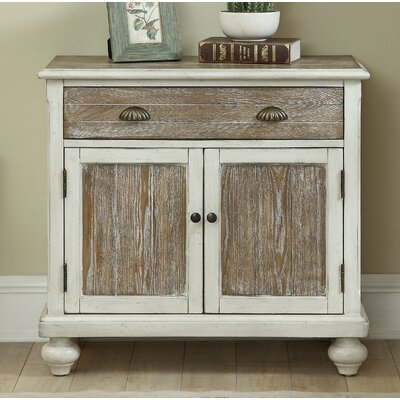 Funchess 2 Door 1 Drawer Accent Cabinet Color: Aged White