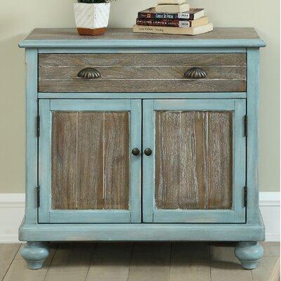 Funchess 2 Door 1 Drawer Accent Cabinet Color: Regent Blue