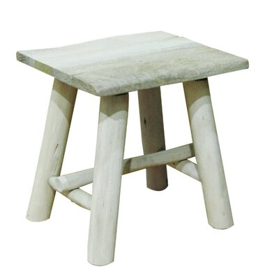 Emerita Wooden Accent Stool