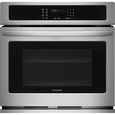 "27"" Self-Cleaning Electric Single Wall Oven Finish/Color: Stainless Steel"