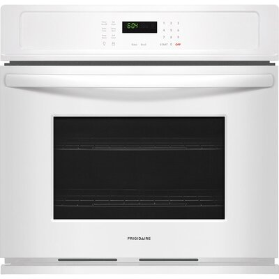 "27"" Self-Cleaning Electric Single Wall Oven Finish/Color: White"