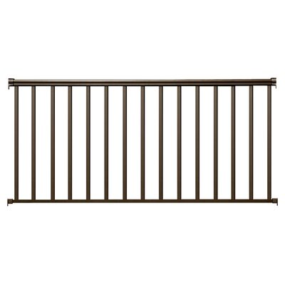 "Baluster Panel Size: 3.5' H x 6' W x 3"" D, Finish: Charcoal Bronze"