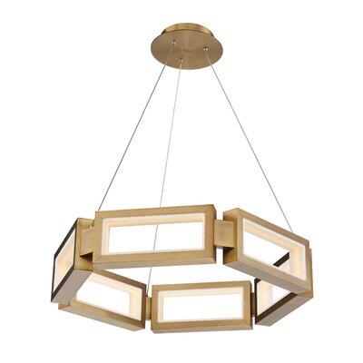"Mies 1-Light LED Novelty Chandelier Size: 5.25"" H x 29"" W x 29"" D"