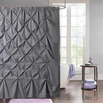 Taya Pintuck Fabric Shower Curtain Color: Gray
