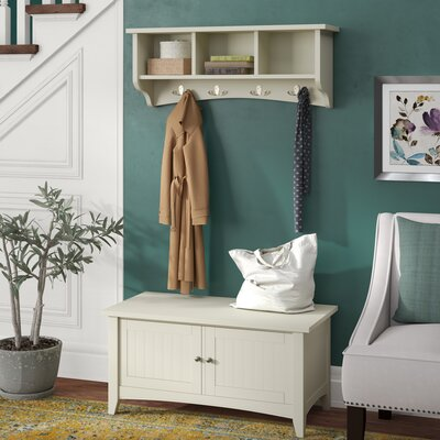 Bel Air Storage Hall Tree Finish: Ivory