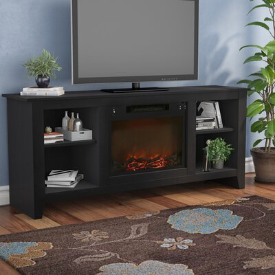 Brook Hollow TV Stand with Electric Fireplace Finish: Black Coffee