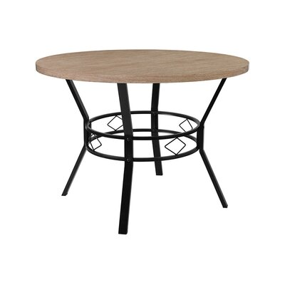 """Gideon Dining Table Size: 29.5"""" H x 42"""" W x 42"""" D, Top Color: Bleached Sandstone"""