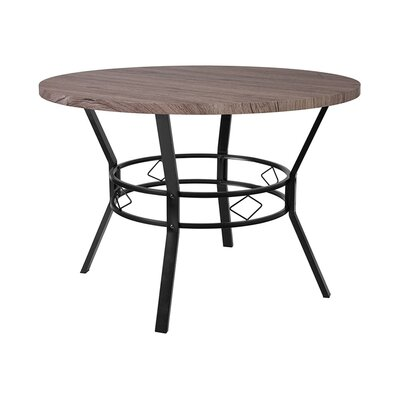 """Gideon Dining Table Size: 29.5"""" H x 45"""" W x 45"""" D, Top Color: Distressed Gray"""