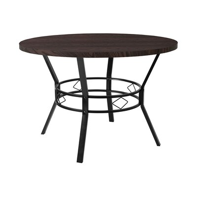 "Gideon Dining Table Size: 29.5"" H x 45"" W x 45"" D, Top Color: Espresso"