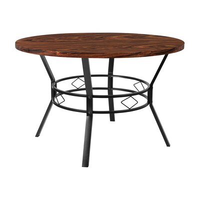 "Rhett Swirled Dining Table Size: 29.5"" H x 47"" W x 47"" D, Top Color: Swirled Chocolate"