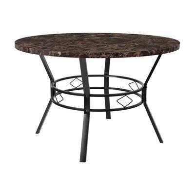 "Rhett Swirled Dining Table Size: 29.5"" H x 47"" W x 47"" D, Top Color: Espresso"