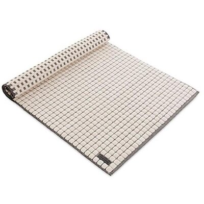 """Ching Check Structure Absorbent Cotton Bath Rug Size: 1"""" H x 23.6"""" W x 23.6"""" D, Color: Beige"""