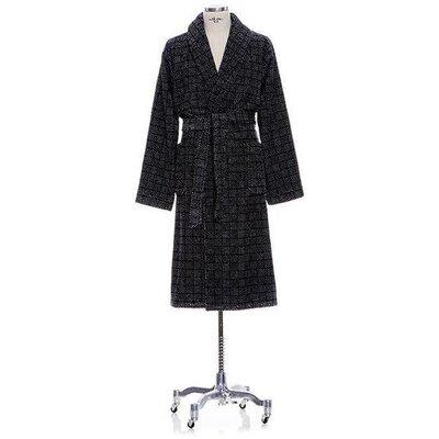 Ching Shawl Collar Cotton Bathrobe Size: Medium