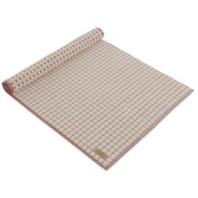 """Ching Check Structure Absorbent Cotton Bath Rug Size: 1"""" H x 23.6"""" W x 23.6"""" D, Color: Beige/Sienna"""