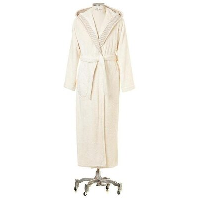 Chew Stoke Hooded Cotton Bathrobe Size: Small