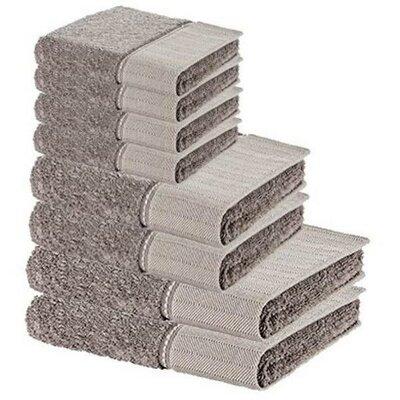 Chism Premium 8 Piece 100% Cotton Towel Set Color: Beige
