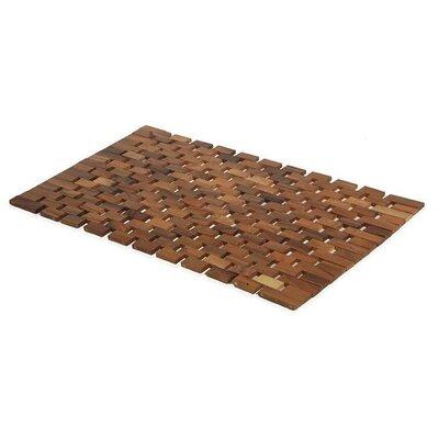 Arinda Acacia Natural Wood Non-Sliding Shower Mat