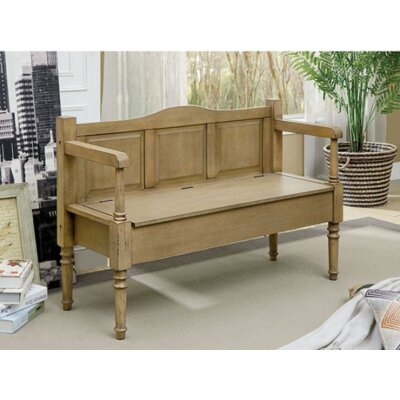 Phoebe Wood Storage Bench Color: Weathered Natural