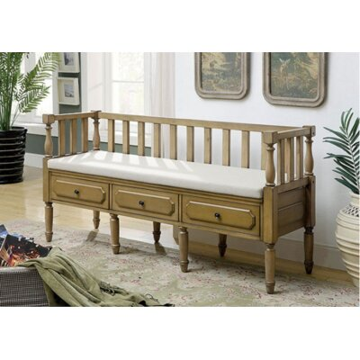 Versailles Wood Storage Bench Color: Weathered Natural