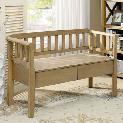 Piedmont Wood Storage Bench Color: Weathered Natural