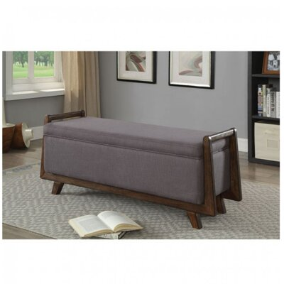 Chrisman Upholstered Storage Bench Color: Gray