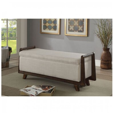 Chrisman Upholstered Storage Bench Color: Beige