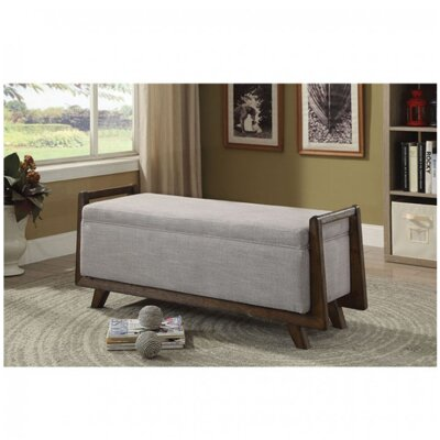 Chrisman Upholstered Storage Bench Color: Light Gray