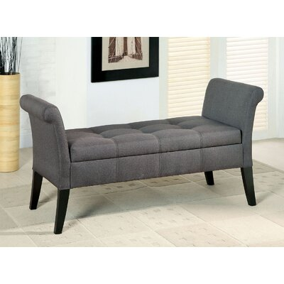 Pipers Upholstered Storage Bench Color: Gray