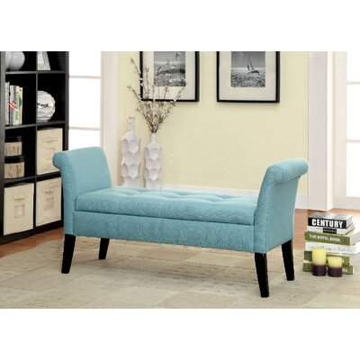 Pipers Upholstered Storage Bench Color: Blue