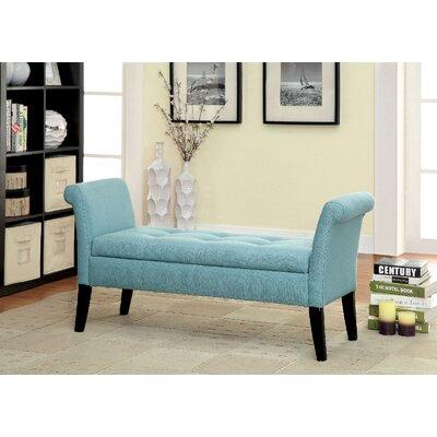 Columbus Upholstered Storage Bench Upholstery: Blue
