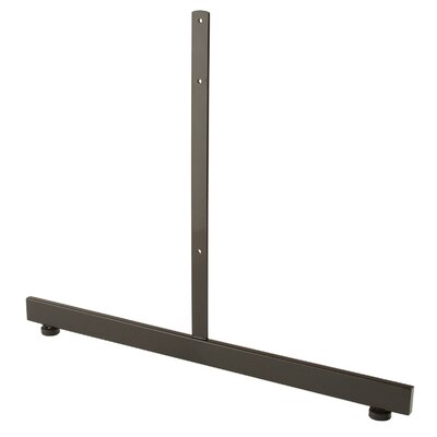 """18"""" H x 24"""" W T-Shaped Legs Stand Base for Grid Panels Finish: Black"""